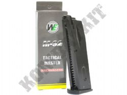WE Airsoft Gun Magazine Green Gas M9 M-92 Handgun GBB Black Metal